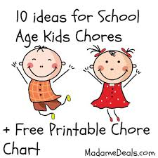 Free Printable Chore Charts 10 Ideas For School Age Kid