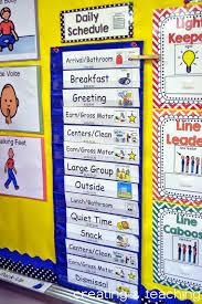 Classroom Daily Schedule Editable Preschool Classroom