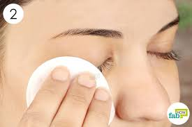 gently wipe your lashes clean with a cotton pad