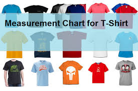Measurement Chart For Regular Fit T Shirt