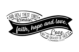 I thought this would look great with gold foil on a black tote. And Now These Three Remain Faith Hope And Love Svg Cut File By Creative Fabrica Crafts Creative Fabrica