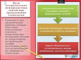 Презентация на тему Мурманский областной институт повышения  5 Пути осуществления межпредметных