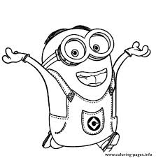 Small Picture Dave The Minion is Happy Coloring pages Printable