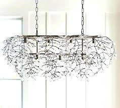 crystal light fixture awesome fixtures rectangular chandelier pottery barn ceiling flush mount awesom