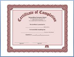 Certificates Of Completion Templates Certificates Of Completion Templates Free Printable Certificate