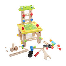 mumama diy multifunctional chair wooden building blocks colormix