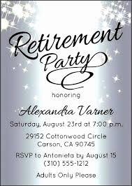 Retirement Invitations Free Free Retirement Party Invitation Templates Lovely Retirement