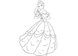 Baby Princess Belle Coloring Pages Sheets Free Disney Co