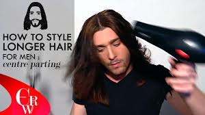 Guy Long Hair Style long hair for men centre parting how to styling tutorial 2081 by wearticles.com