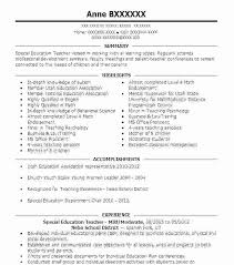Sample Resume For Special Education Assistant Bunch Ideas Of Resume ...