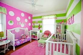 ... Stylish And Peaceful Girls Bedroom Ideas Pink And Green 4 Pink Room  Stripes Polka Dots Home ...