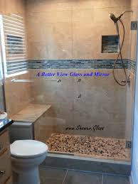 custom notched shower glass panel custom notched shower glass panel with glass towel bar and frameless shower glass door installed