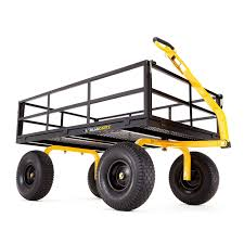 gorilla steel garden flatbed utility cart gor1400 com