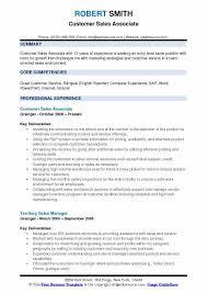 Entry Level Sales Associate Resumes Customer Sales Associate Resume Samples Qwikresume