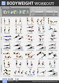 Fitness Program Chart Amazon Com Fitwirr Bodyweight Exercises Poster For Women A