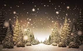 Free Christmas Landscape Wallpaper