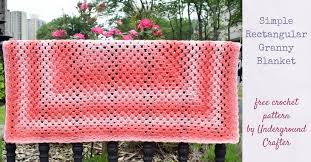 Redheart Free Crochet Patterns Gorgeous Crochet Pattern Simple Rectangular Granny Blanket Underground Crafter