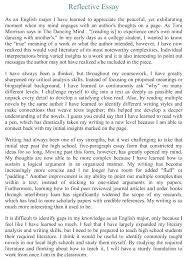 Higher English Essay Examples Higher Reflective Essay Argumentative