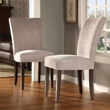 silver gray chenille parson chairs for home furniture ideas