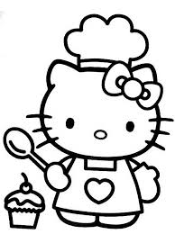 Small Picture Hello Kitty Cooking Free Coloring Page Hello Kitty Kids