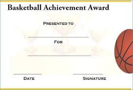 Basketball Award Templates Microsoft Word 8 Basketball Certificate