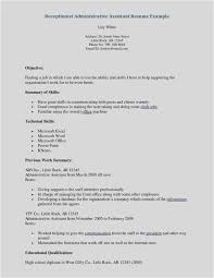 Free Download Resume Samples Medical Receptionist New Best Sample