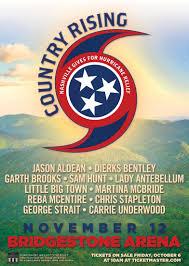 Garth Brooks Bridgestone Arena Seating Chart Country Musics Biggest Names To Play Benefit Concert To