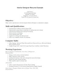 Assistant Designer Resume Interior Design Resume Sample Designer Examples Templates Samples