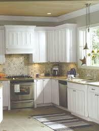 Kitchen Backsplash Ideas For Dark Cabinets Glass Accent Tile White
