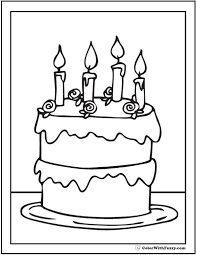 Small Picture 28 Birthday Cake Coloring Pages Customizable PDF Printables