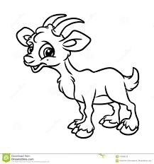 Historieta Del Animal De La P Gina Del Colorante De La Cabra Stock