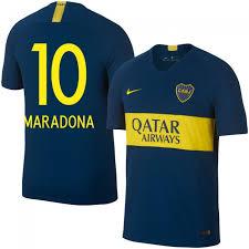 Boca Local Estilo Del Camiseta Fan Juniors dorsal 2018-2019 Maradona 10
