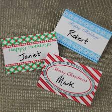 Holiday Name Christmas Party Name Tag Templates