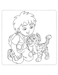 Kleurplaten Paradijs Kleurplaat Diego En Baby Jaguar