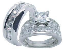 discount diamond wedding ring sets. his hers sterling silver princess cut cz wedding ring set discount diamond sets