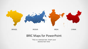 Bric Maps Template For Powerpoint