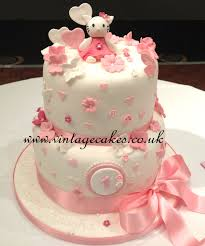 Hello Kitty Inspired 1st Birthday Cake Flavours Were Black Forest
