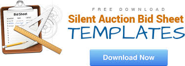 auction bid sheet template free bid sheets 101 improve your silent auction with better bid