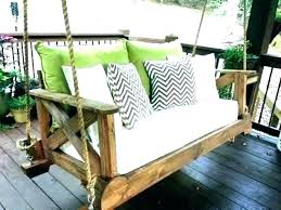 porch swing bed hanging diy outdoor porch bed swing