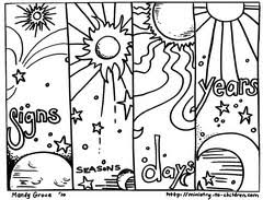 Small Picture Creation Coloring Pages For Sunday School FunyColoring