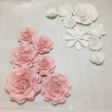 Paper Flower Photo Booth Backdrop 14pcs Set Giant Paper Flowers For Girls Party Wedding Decor Or Photo Booth Backdrop Or Wedding Backdrops