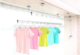 wall mounted clothes rod hand lifting ceiling wall mounted clothes rack aluminum clothes drying rack aluminum