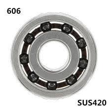 606 bearing. 606 6x17x6mm ball bearing ss420 hybrid 9 beads ceramic balls for fidget hand spi