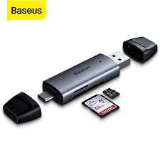 Baseus Card Reader Type C USB 3.0 to USB <b>Micro SD TF</b> ...