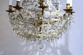 antique austrian rock crystal chandelier detail