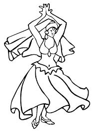 Dansen Kleurplaat Dagen Week Kleurplaten En Dansen