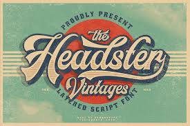 Available for download in png, svg and as a font. Headster Vintage Layered Pixelify Best Free Fonts Mockups Templates And Vectors Vintage Fonts Vintage Labels Retro Font