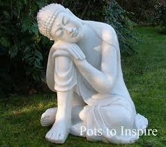large sleeping deity white buddha