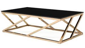 black glass geo coffee table