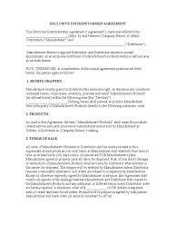 Exclusivity Agreement Template Exclusivity Agreement Template 24 Free Templates In PDF Word 3